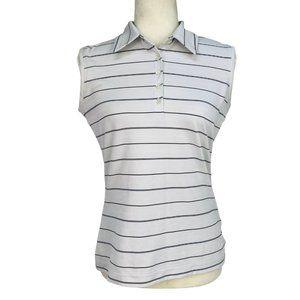Nike Golf  Dri-Fit Sleeveless Polo Shirt Striped S
